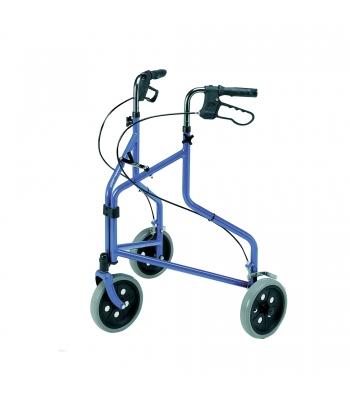 Roma Medical Lightweight Tri-Wheel Walker with Loop Brakes